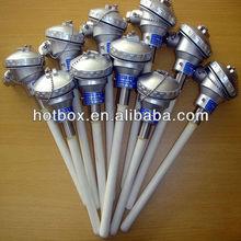 High temperature 1800C S/B/R type Platinum-rhodium thermocouple for furance