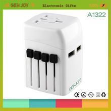 GENJOY A1322 Dual usb travel power adapter 2500mA usb output dc plug
