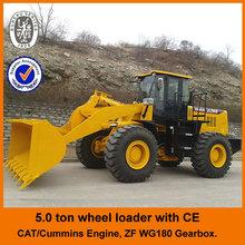 Cat licensed engine,CE,4WD,5ton,joystick control, big loader with diesel engine