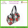 Fashion Canvas Doctor Bag Satchel Vintage Style With Skulls Rose Canvas Doctor Bag