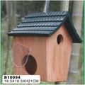 madera casas del pájaro alimentadores de venta al por mayor hecho a mano