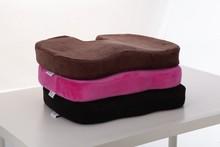 Office Chair Contour Memory Foam Pillow , Car Seat Lumbar Support Cushion