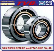 high quality caged angular contact ball bearing