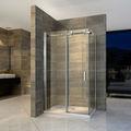 coulissantes en verre cabine de douche en acier inoxydable