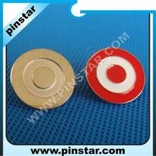 Mini cute round dart board sandblasting metal pin badge with polished craft
