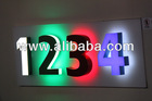 Hot selling Acrylic led number sign