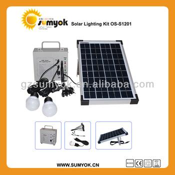 portable solar powered home system 10W OS-S1201 12v dc led solar kits