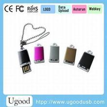 Fancy slim mini usb key 8GB with keyring,waterproof usb