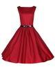 Audrey Vintage Cocktail Dress Deep Red vintage rockabilly red dresses