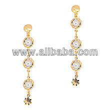 Ebay Hot Selling Fashion Pink Crystal Earrings Charm Earring