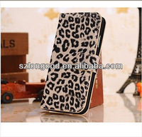 Leoperd Flip PU Leather Credit Card Holder Wallet Pouch Case Cover For Samsung Galaxy SIV S4 I9500