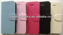 Stand wallet flip leather case for iPhone 5 mobile phones