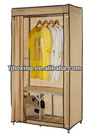 Foldable DIY Solid Wood and Non Woven Fabric Portable Wardrobe closet