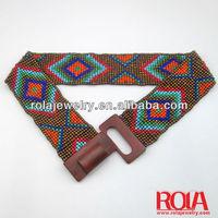 Elegant stylish elastic beaded belt/waist sash belt