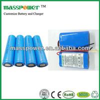 Best price li-ion battery 7.4v 1100mah