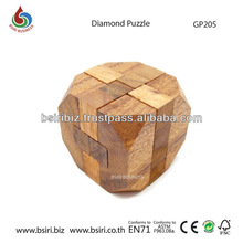 Diamond Puzzle wooden interlocking puzzles