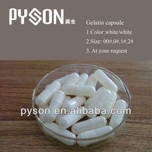 White Empty gelatin capsules