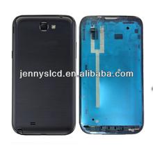 Original cell phone back cover for Samsung Note 2 full housing black