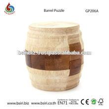 Interlocking Puzzle Pieces Barrel Puzzle