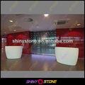 Comercial moderno lobby bar design de pedra artificial de bambu balcão de bar