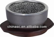 Granite stone die cast aluminum smart bowl cook