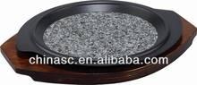 Granite non-stick frying pan hub