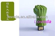 The unique custom printable Hulk hand fist USB flash drive pen driveLFN-052