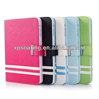Fashion Stand leather case pouch with card slots for ipad mini 2