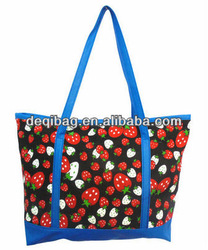 Summer FLOWER PU bag canvas Bronzing canvas beach bags Shoulder leisure bags candy color casual women's handbag shopping