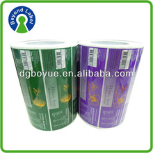varnished paper self adhesive label for commodity