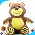 Venda quente educativos engraçado ursinho de pelúcia brinquedo, recheado de gravação de voz da boneca