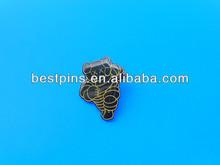 Promotion printed animal lapel pin