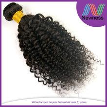 Natural Virgin Hair Pieces Dark Brown Highlights Peruvian Curly Weave Hair