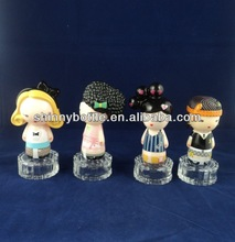 lovely perfume bottle glass for women with cartoon caps