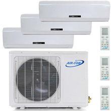 Ductless Mini Split Air Conditioner Heat Pump Tri Zone AC - 9000 9000 9000 BTU 3