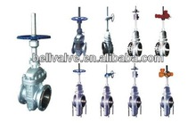 Flat plate gate valve without through conduit with Handwheel
