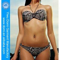 2014 hot open sex girl bikini models/snake printed swimwear Indian open sexy womens photos girls in bikini