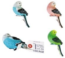 [for Alibaba PY]Polyresin Real Parrot Shape Card Clip (Blue/ Green/ Pink)