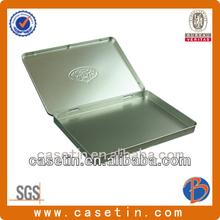Cadburys OEM rectangular embossed gift tin box chocolate with hinged lid chinese manufacturer