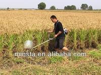 Gasoline mini paddy rice cutting machine/manual cutting machine