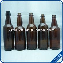 2014 amber beer glass bottle in factory