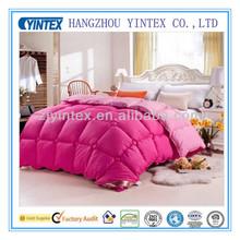 Fashion cheap baffle box white soft 85% goose down comforter with PVC bag