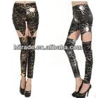2014 latest popular Garter Buckle sexy leggings slim Punk Rock pants women leggings