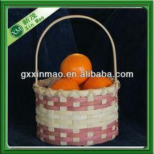 cheap woven bamboo fruit basket weaving wholesale