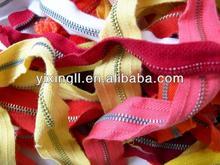 2014 fashion cheap garment zipper nylon zippers accessories corn teeth zipper machine