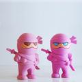 3d rosa promoção borracha