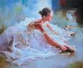chica bailarina de ballet pintura