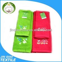 High quality fashional cotton home organic face towel