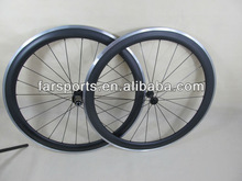 Alloy carbon 50mm bicycle wheelset, training clincher wheels, alloy brake surface