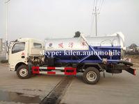 Quick seller! 3000L-5000L DFAC 4X2 vacuum sewage tank truck